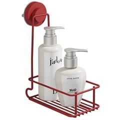 Porta Shampoo Slim Fixaclick Vermelho - Domo House