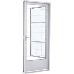 Porta Social de Abrir Branca 217x87x12 Cm Direita - Ref: 224224112 - Sasazaki