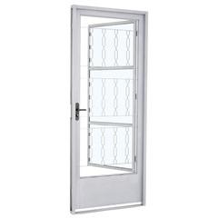 Porta Social de Abrir Branca 217x87x8cm Direita - Ref: 24222012 - Sasazaki