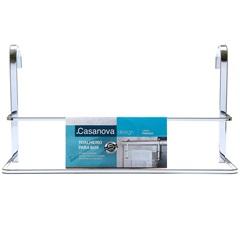 Porta Toalha de Banho para Box Duplo Primazia Cromado  - Casanova
