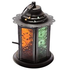 Porta Vela Lanterna Laranja E Verde 12x8,5cm - Vênus Victrix