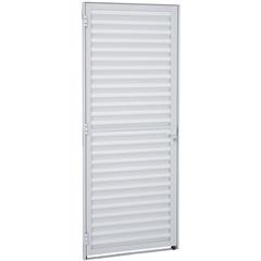 Porta Veneziana Direita Alumifit 215x87cm Branca - Sasazaki