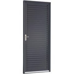 Porta Veneziana Direita Belfort 217x77x12cm Cinza - Sasazaki