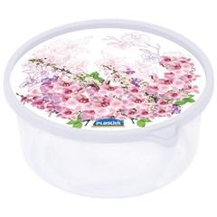 Pote Decora Floral Redondo 650ml  Ref. 5584    - Plasútil