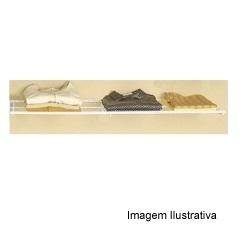 Prateleira de Aramado Branca 110x30cm - Fico Ferragens