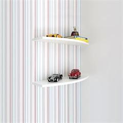 Prateleira em Arco 80 X 25 C 1,8 Cm Branco - Bemfixa