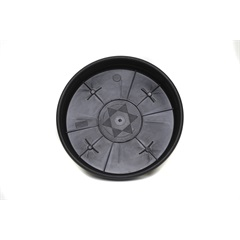 Prato 26cm com Roda Preto Ref: 0545 - Desli
