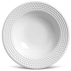 Prato Fundo Olimpio Branco 22cm  - Porto Brasil Cerâmica