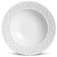 Prato Fundo Tripoli Branco 22cm  - Porto Brasil Cerâmica