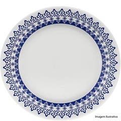 Prato para Sobremesa Donna Grécia 18cm Azul E Branco - Biona