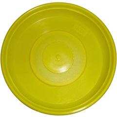 Prato para Vaso de Plantas Amarelo 18cm - West Garden