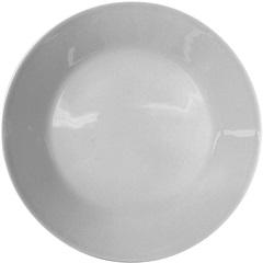Prato Raso de Porcelana Branco 27cm - Importado