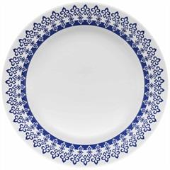 Prato Raso Donna Grécia 24cm Azul E Branco - Biona