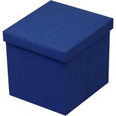 Puff Baú Desmontável 40 X 40 Cm Azul - VTEC