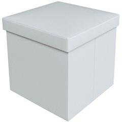 Puff Baú Desmontável 40 X 40 Cm Branco - VTEC