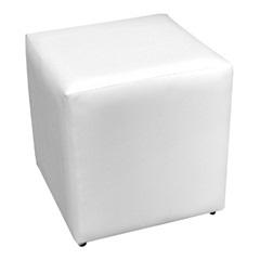 Puff Corino 40x40cm Branco - Combinatta