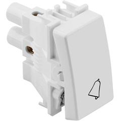 Pulsador para Campainha 10a 250 V Branco S19 - Ref: 19150-30  - Simon