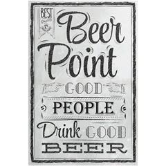 Quadro de Madeira Beer Point 40x60cm - Importado
