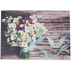 Quadro Decorativo Buque de Flores Na Fita 70cmx50cm  - Importado