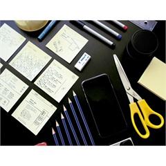 Quadro Decorativo em Vidro Office 30x40cm - E2G Design