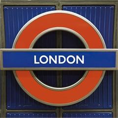 Quadro Decorativo em Vidro Placas Londres 30x30cm - E2G Design