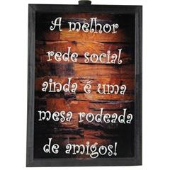 Quadro Porta Rolha em Madeira 47x36cm Marrom E Preto - Império Decor