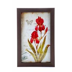Quadro Postal Flores 1 Vidro 19 X 29 Cm - Euro