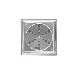 Ralo Laminado de Aço Inox Quadrado 150mm C/Caixilho - Aminox