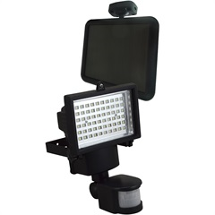 Refletor com Sensor de Movimento Solar 60 Led'S Preto - Ecoforce