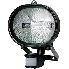 Refletor Halógeno 500w Bivolt com Sensor de Presença Preto - KeyWest