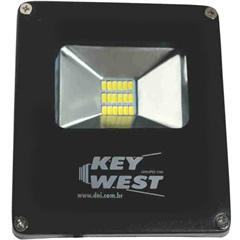 Refletor Led 10w Bivolt Slim 6000k - KeyWest