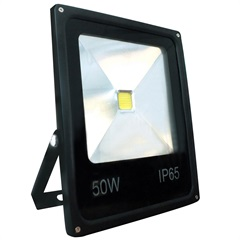 Refletor Led 50w Bivolt Slim Preto - Key West
