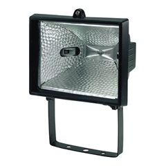 Refletor para Lâmpada Halógena 300 / 500W Preto - Taschibra - cod. 589241
