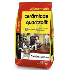 REJUNTE ADITIVADO FLEXÍVEL BRANCO 1KG 315710 Quartzolit
