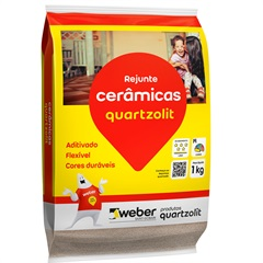 Rejunte Aditivado Flexível Cinza Outono 1kg - Quartzolit