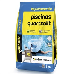 Rejunte para Piscina Azul Celeste 5 Kg  - Quartzolit