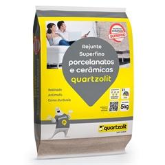 Rejunte Porcelanato  Cinza Platina 5kg - Quartzolit