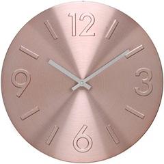 Relógio de Parede em Alumínio Redondo 30cm Rosê - Importado