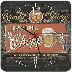 Relógio de Parede em Mdf Quadrado Beer Preto 29cm Preto - Império Decore