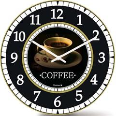 Relógio de Parede em Mdf Redondo Wood Max 33,5cm Branco E Preto - Relobraz