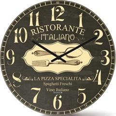 Relógio de Parede em Mdf Redondo Wood Max 33,5cm Cinza - Relobraz