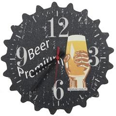 Relógio de Parede Tampinha Beer Premium 5435 - Império Decor