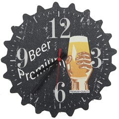 Relógio de Parede Tampinha Beer Premium 5435 - Império Decore