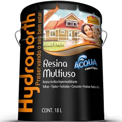 Resina Acrílica Acqua Impermeabilizante Incolor 18 Litros - Hydronorth