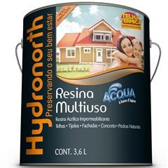 Resina Acrílica Impermeabilizante Multiuso Acqua Cerâmica Telha 3,6 Litros