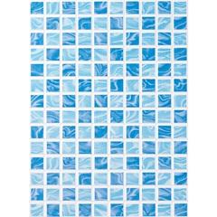Revestimento Aquarela Azul Bold Esmaltado 33x45cm  - Porto Ferreira