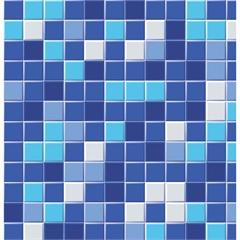 Revestimento Autoadesivo Pastilha 45cm com 2 Metros Azul - Plastcover