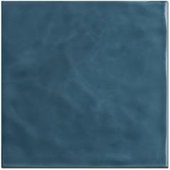 Revestimento Brilhante Borda Reta Marinha Azul Mar Onda 20x20cm