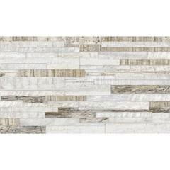 Revestimento Hd-35420 Bold Acetinado Branco E Marrom 32,5x56,5cm