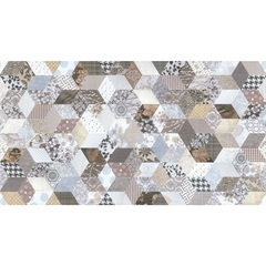 Revestimento Retificado Inserto Geometrie Patch 32 X 59 Cm Caixa 1,13 M² - Incepa